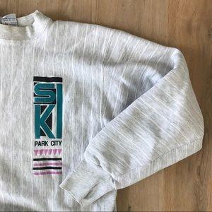 Vintage Ski Park City, Utah Gray Sweatshirt